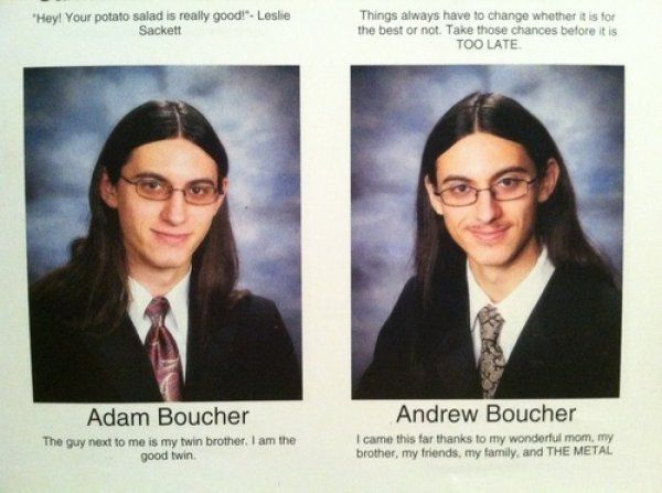 10 Best Twin Quotes From Yearbooks | MadTen