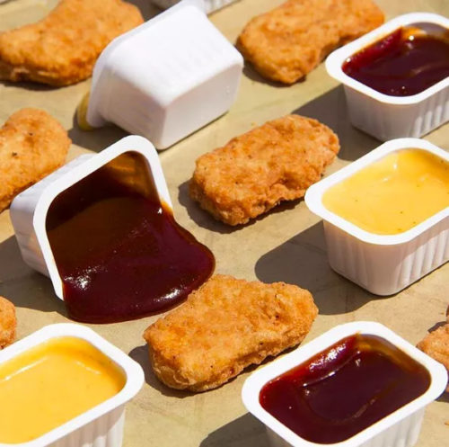nuggets and sauce