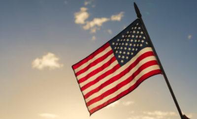 American Flag Golden Hour